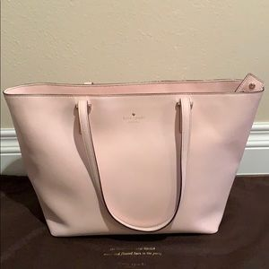 Pink Kate Spade leather tote bag